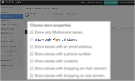 Find stores in specific countries and states